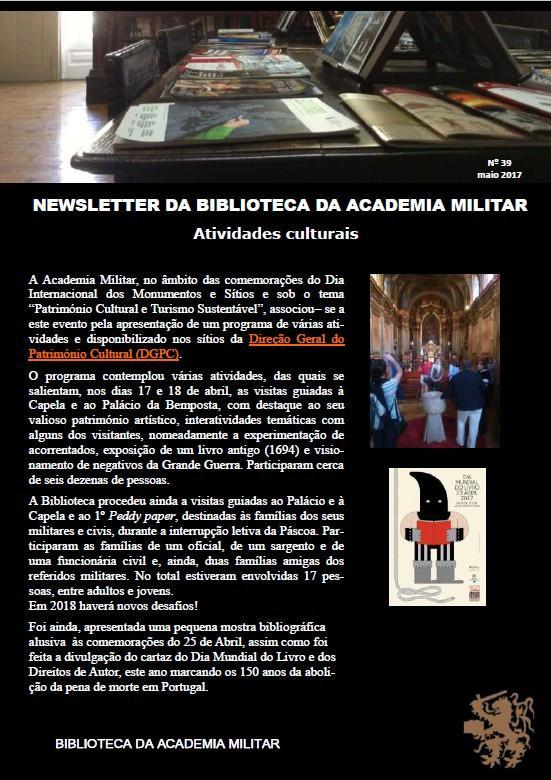 Newsletter n39 maio 2017