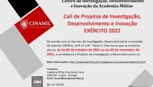 CALL DE PROJETOS DE INVESTIGAÇÃO, DESENVOLVIMENTO E INOVAÇÃO EXÉRCITO 2022
