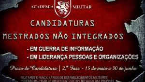 2.ª FASE - CANDIDATURAS A MESTRADOS NÃO INTEGRADOS - ANO LETIVO 2017/18